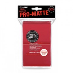 Protection cartes rouges mattes - UP -  (100 Sleeves)