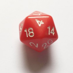 D20 Dice - Dés D20 rouge 20 mm