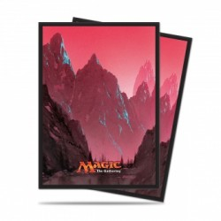Protection cartes Montagne - UP  - Mana 5 Mountain (80 Sleeves)