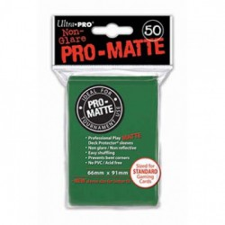 Protection cartes vertes mattes - UP -Pro-Matte - Green (50 Sleeves)