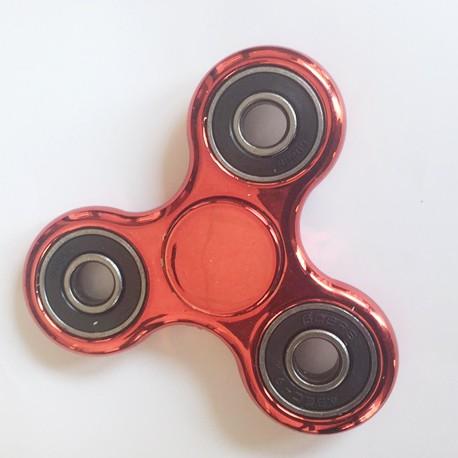 Hand Spinner métallisé rouge