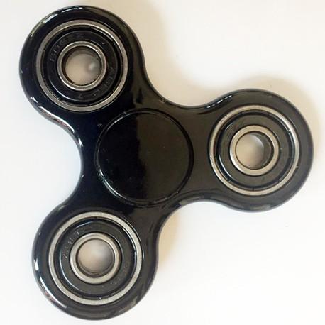 Hand Spinner métallisé noir