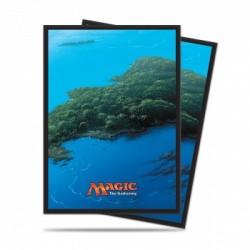 Protection cartes Iles - UP Mana 5 Island (80 Sleeves)