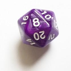 Dés 20 violet