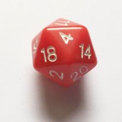 D20 Dice - Dés D20 rouge 20 mm