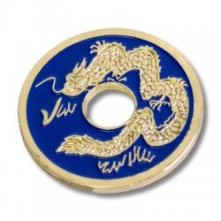 Pièce chinoise bleu (taille demi dollar)