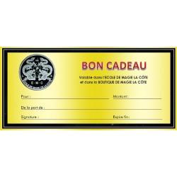 Bon cadeau de 50 CHF pour la Boutique ou l'Ecole de Magie de la Côte