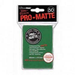 Protection cartes vertes mattes - UP -Pro-Matte - Green (50 Sleeves)